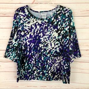 BonWorth Tops - Bon Worth Abstract 3/4 Sleeve Blouse Top